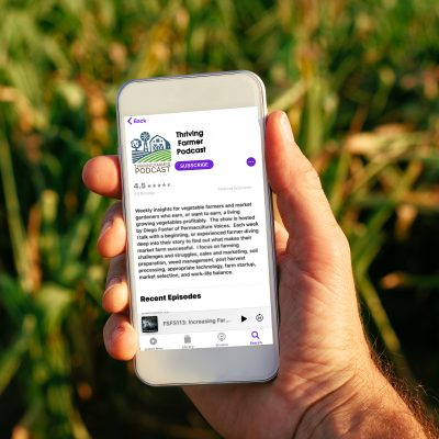 Thriving Farmer Podcast on mobile phones